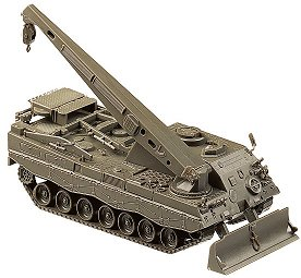 Herpa Minitanks 1/87 Bergepanzer 3 Buffel Armored Recovery Vehicle w/Crane & Plo