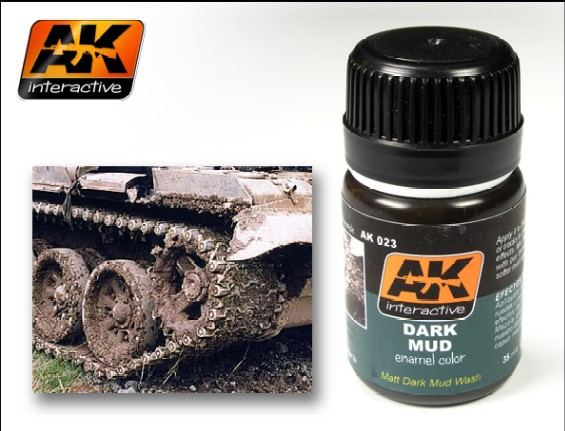 AK Interactive Dark Mud Enamel Paint 35ml Bottle