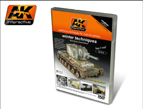 AK Interactive Winter Weathering Techniques for Invernal Vehicles PAL DVD