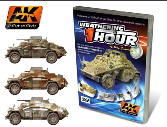 AK Interactive Weathering SdKf 222 in 1Hr PAL DVD