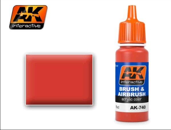 AK Interactive Red Acrylic Paint 17ml Bottle