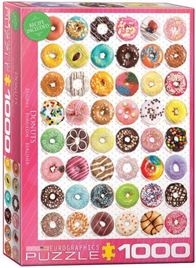 Donut Party Collage Puzzle (1000pc)