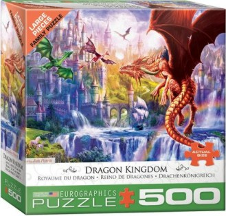 Dragon Kingdom (Flying Dragons & Castle) Puzzle (500pc)