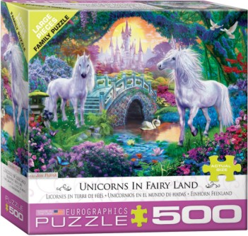Unicorns Fairy Land Puzzle (500pc)