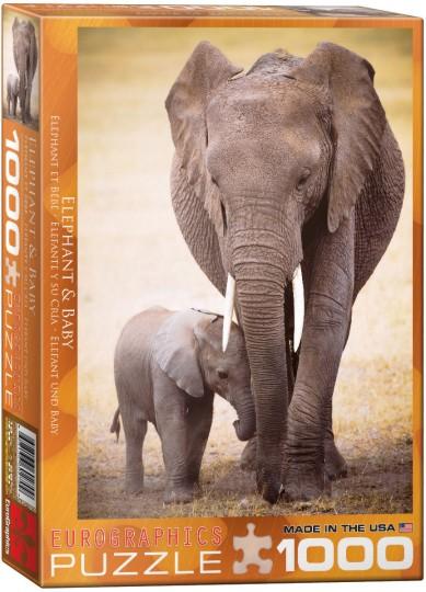 Elephant & Baby Puzzle (1000pc)