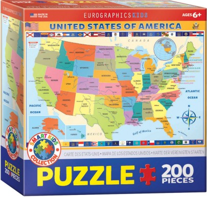 Map of the USA Puzzle (200pc)