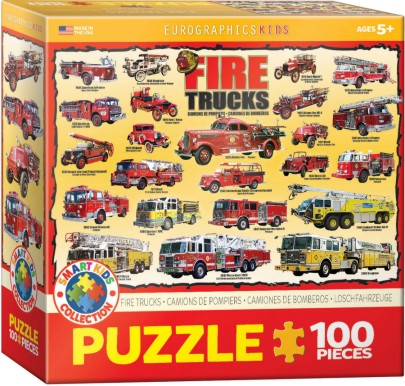Fire Trucks Collage Puzzle (100pc)