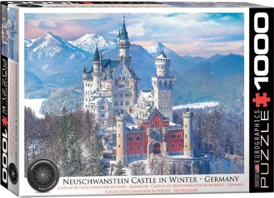 Neuschwanstein Castle, Germany (Winter Scene) Puzzle (1000pc)