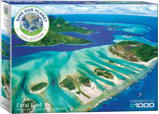 Coral Reef Aerial View Puzzle (1000pc)