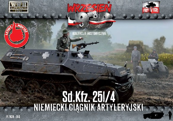 Image 0 of First To Fight Models 1/72 WWII SdKfz 251/4 German Artillery Halftrack