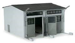 Herpa Minitanks 1/87 2-Stall Modern Garage Kit
