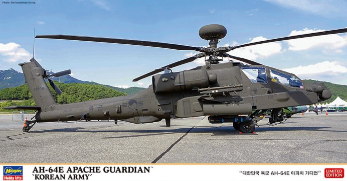 Hasegawa 1/48 AH64E Apache Guardian Korean Army Attack Helicopter (Ltd Edition)
