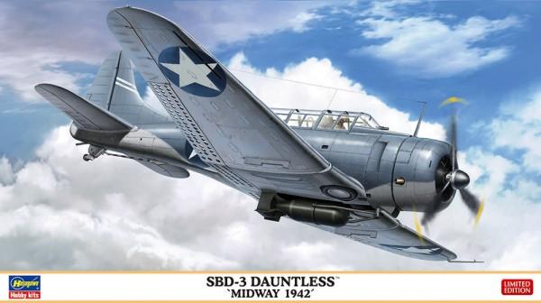 Hasegawa 1/48 SBD3 Dauntless Midway 1942 USN Dive Bomber (Ltd Edition)