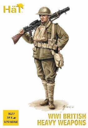 Hat 1/72 WWI British Heavy Weapons Soldiers (32 w/4 Guns)