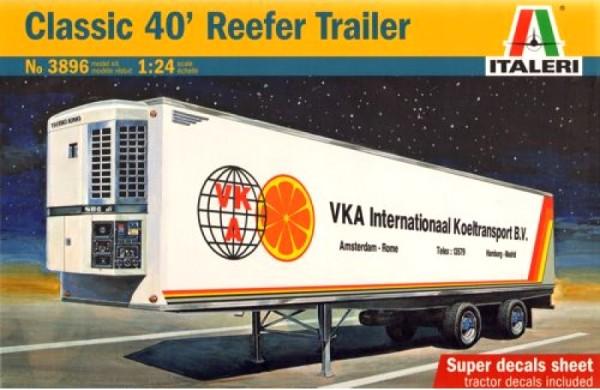 Italeri 1/24 40ft. Reefer Trailer