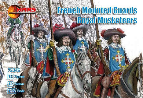 Mars Figures 1/72 French Guards Royal Musketeers (12 Mtd)