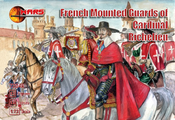 Mars Figures 1/72 French Guards of Cardinal Richelieu (12 Mtd)