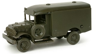 Herpa Minitanks 1/87 Dodge US Army Ambulance (Olive Green)