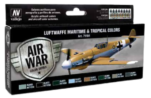 Vallejo Paints 17ml Bottle RLM III Model Air Paint Set (8 Colors)