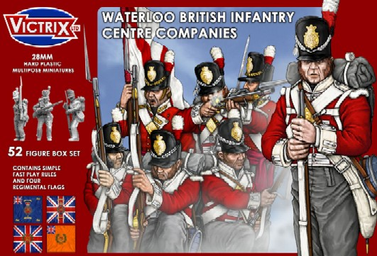 Victrix LTD Figures 28mm Waterloo British Infantry Centre Companies (52)