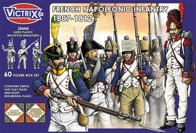 Victrix LTD Figures 28mm French Napoleonic Infantry 1807-1812 (60)