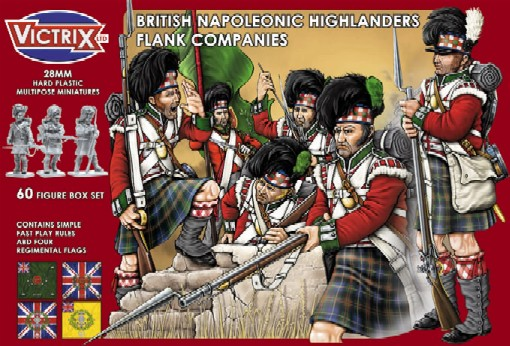 Victrix LTD Figures 28mm British Napoleonic Highlanders Flank Companies (60)