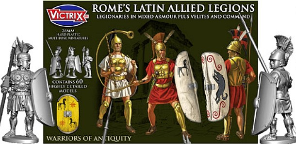 Victrix LTD Figures 28mm Rome's Latin Allied Legions in Mixed Armour (60)