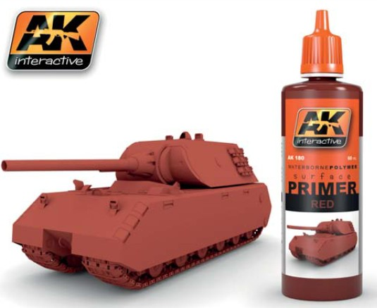 AK Interactive Red Acrylic Primer 60ml Bottle