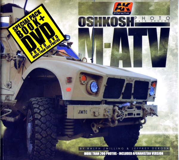 AK Interactive Oshkosh M-ATV Photo Walk Around Book w/DVD (D)