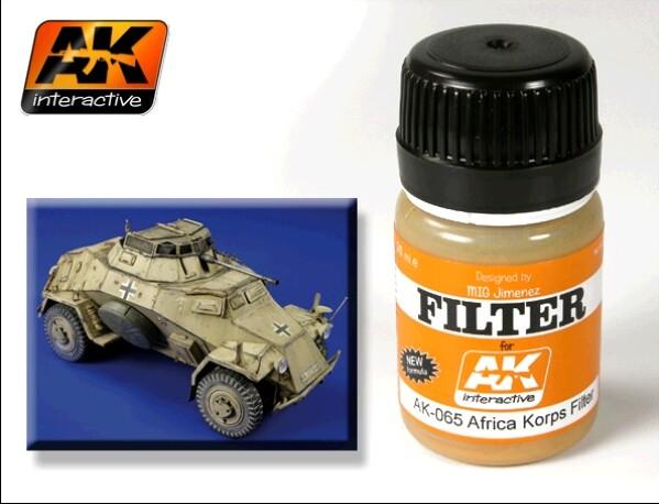 AK Interactive Afrika Korps Filter Enamel Paint 35ml Bottle