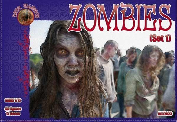 Dark Alliance 1/72 Zombies Set #1 Figures (48)