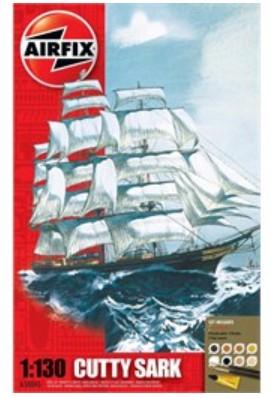 Airfix 1/130 Cutty Sark Sailing Ship Gift Set w/paint & glue