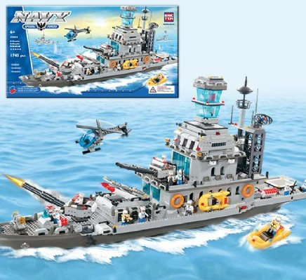 Brictek Building Blocks  Navy Cruiser (1745pcs)
