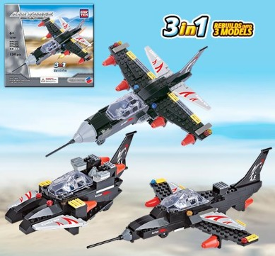 Brictek Building Blocks  Air Force Sonic Fighter 3 in 1 (134pcs)