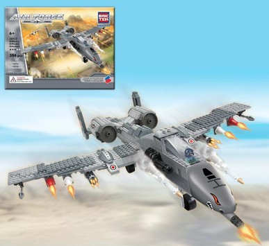Brictek Building Blocks  Air Force Fighter Plane (384pcs)