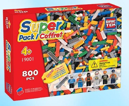 Brictek Building Blocks  BRICTEK Super Pack (800pcs), Figures (6), Block Remover