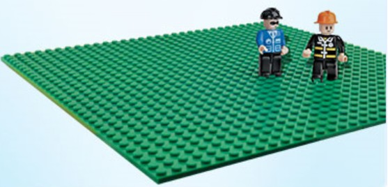 Brictek Building Blocks  Baseplates 10x5 w/Figures (2ea)