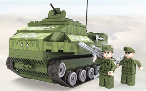 Brictek Building Blocks  Army Bazooka Tank (199pcs)