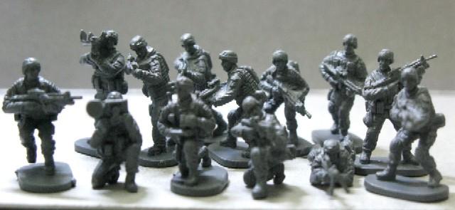 Caesar Miniatures 1/72 Modern US Elite Force (40)