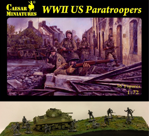 Caesar Miniatures 1/72 WWII US Paratroopers (33)
