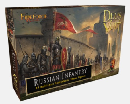 Fireforge Games 28mm Deus Vult Medieval Russian Infantry (25) G10