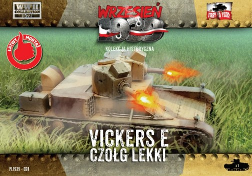First To Fight Models 1/72 WWII Vickers E Polish Light Tank w/Double Turret