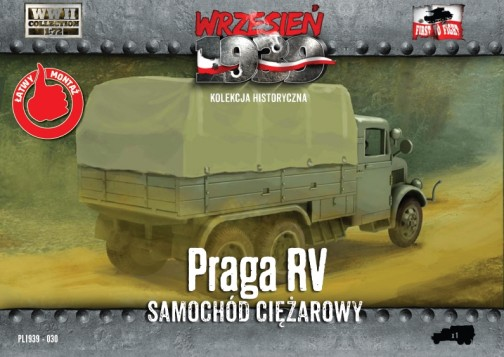First To Fight Models 1/72 WWII Praga RV Truck w/Canvas-Type Cover
