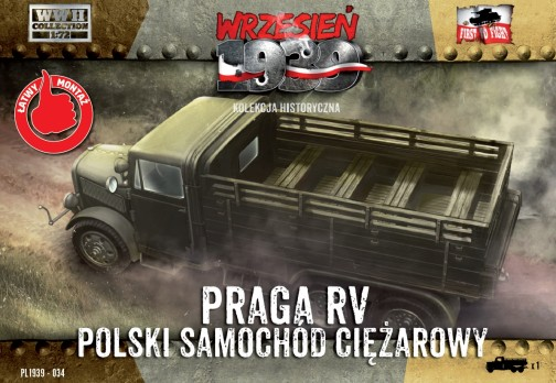 First To Fight Models 1/72 WWII Praga RV Troop Transporter in Polish Service