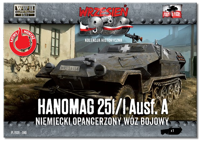 Image 0 of First To Fight Models 1/72 WWII Hanomag 251/1 Ausf A Halftrack