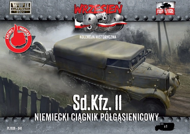 Image 0 of First To Fight Models 1/72 WWII SdKfz 11 German Halftrack