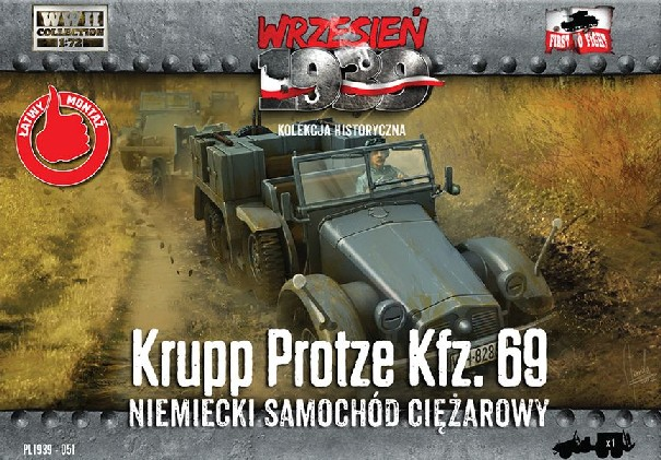 Image 0 of First To Fight Models 1/72 WWII Krupp Protze Kfz 69 Army Truck
