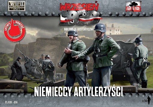 Image 0 of First To Fight Models 1/72 WWII German Artillery Crew (14)
