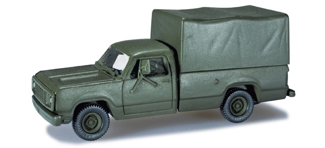 Herpa Minitanks 1/87 Dodge M880 4x4 US Army Truck w/Canvas Type Cover