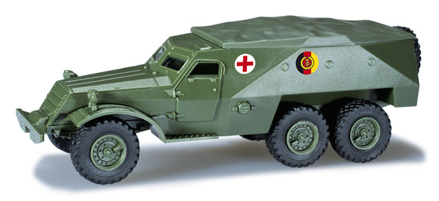 Herpa Minitanks 1/87 Iron Pig Spzw Type 152 East German Army Ambulance